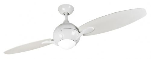"Fantasia Propeller 44"" White Ceiling Fan + Remote Control +  Light 114598"